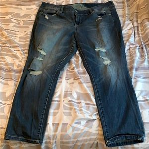 Distressed Skinny Jeans- Ankle Length